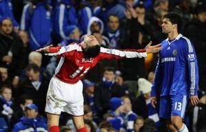Радость от гола в ворота Челси